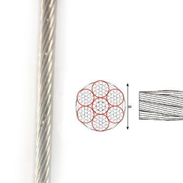 cable de acero inoxidable 1×19
