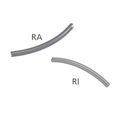 Curvas riel horizontal